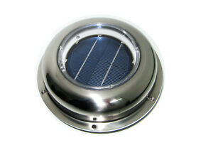 Solar Powered Vent Fan Exhaust Ventilation With Battery For Boat roof attic rv