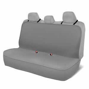 Motor Trend 100 Waterproof Rear Bench Car Seat Cover Gray Full Size