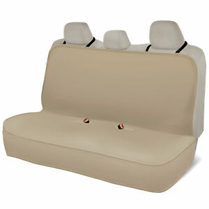 Motor Trend 100 Waterproof Rear Bench Car Seat Cover Beige Full Size