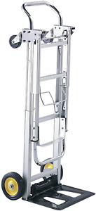 Hide away Convertible Hand Truck Dual Function 400 Lbs Aluminum Frame