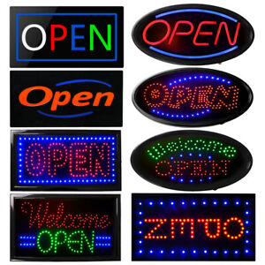Ultra Bright Led Neon Open Sign For Business Store Animated Motion Light