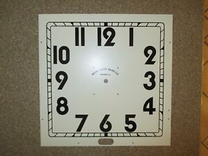 Vintage Neon Clock Sales Co White Metal Face New