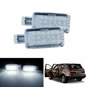 2x 18 Smd Led Door Step Courtesy Light Lamps White For Acura Mdx Rlx Tlx Zdx Tl