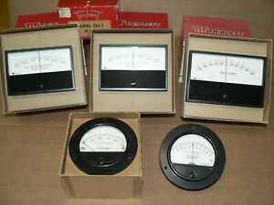 5 Triplett Panel Meters Lot Millamperes Microamperes Ohms New And Used