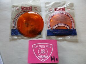Yankee 31242 Amber Replacement Lens Light 4 1 4 Directional Signals 2 Pc Set