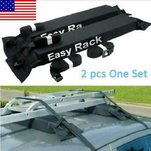 Universal Roof Rack Cargo Carrier Car Suv Van Top Luggage Holder Travel Us Soft