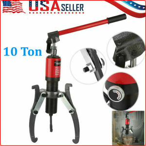 10t Hydraulic Gear Puller Pumps Oil Tube 3 Jaws Steel Drawing Machine Hot