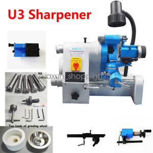 R8 Chuck U3 Universal Cutter Grinder End Mill Sharpener Twist Cutting Machine