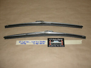 Oem 67 Cadillac Deville Windshield Wiper Arm Blades With New Refills