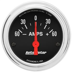 Auto Meter 2586 2 1 16 Traditional Chrome Elec Ammeter Gauge 60 0 60 Amps New