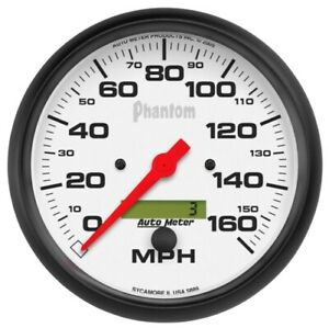 Auto Meter 5889 5 Phantom Electric Speedometer 0 160 Mph New