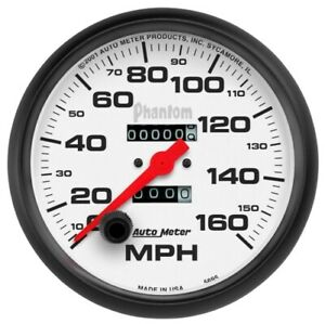 Auto Meter 5895 5 Phantom Mechanical Speedometer 0 160 Mph New