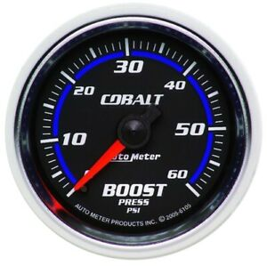 Auto Meter 6105 2 1 16 Cobalt Mechanical Boost Gauge 0 60 Psi New