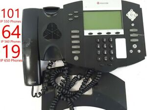 Lot Of 184 Polycom Soundpoint Ip 550 Ip 560 Ip 650 Phone Stand And Handset