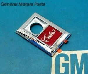 Nos 78 79 80 Cutlass Calais Trunk Lock Emblem Bezel Genuine Gm Deck Lid Trim