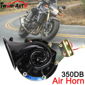 300db 12v Electric Auto Air Horn Super Loud Raging For Motorcycle Car Truck Boat