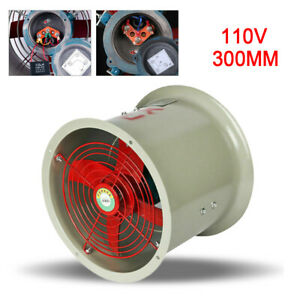 12 Explosion Proof Tube Axial Exhaust Fan 4 Blades 1450rpm 110 Volt