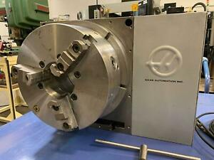2008 Haas Hrt 450 Rotary Table Indexer 4th Axis 17 7 Platter W 7 5 Hole Cnc