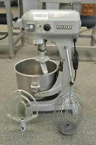 Hobart A200t Commercial Dough 20 Qt Mixer W Stainless Steel Bowl Hook And More