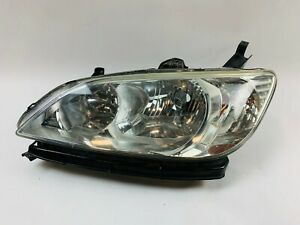 2004 2005 Honda Civic Headlight Left Driver Side Halogen Lamp Oem