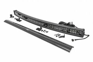Rough Country 50 Black Series Curved Dual Row Cree Led Light Bar W drl 72950bd