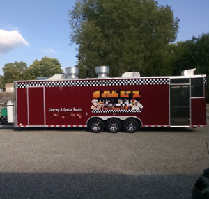 8 X 32 Bbq Concession Trailer With 6 Screened Porch And New Kitchen For Sale