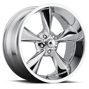 18x8 0 Bg Rod Works Old School Chrome Wheel Rim 5x114 3 Qty 4