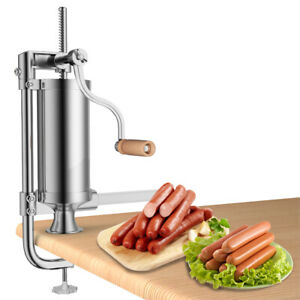3l 5lbs Sausage Stuffer Stainless Steel Meat Filler Maker Machine Commercial