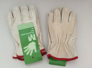 Major Gloves Safety Leather Work Glove Small Beige Rn 116011