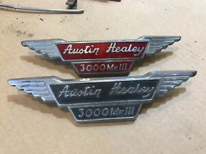 Original 2 Bmc Hood Bonnet Badge Austin Healey 3000 Mark Iil One Cloisonn