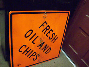 Nos 3 By 3 Folding Highway Sign Fresh Oil And Chips Restaurant Sign