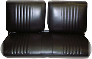 1972 Nova Front Bench Seat W out Armrest Chevy Ii nova ss Custom Black Cover