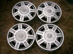 94 05 Cadillac Deville Set Oem 16 Machined Painted Wheels Rims 7 Spoke 9594396