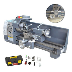 110v 750w Variable speed Mini Metal Lathe 8 x16 Bench Digital Woodworking Cnc