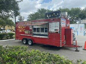 2014 7 2 X 20 Barbecue Pit Concession Trailer Mobile Kitchen For Sale In T