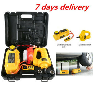 Autool 12v Dc 5 Ton Hydraulic Jack Car Vehicle Lifting With Wrench For Travel