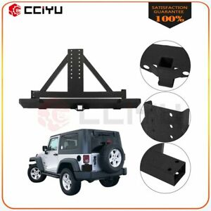 Eag Rear Bumper With Tire Carrier Winch Unlimited Fits 87 06 Jeep Wrangler Tj Yj