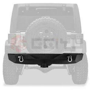 For Jeep Wrangler Jk 07 18 Rear Bumper Steel Protector Textured Assembly