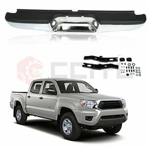New Complete Rear Steel Step Bumper Assembly For 2000 2004 Toyota Tacoma Truck