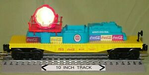 K-Line 7213 Operating/ Rotating Coca-Cola Coke Searchlight Car wks w/ Lionel 97
