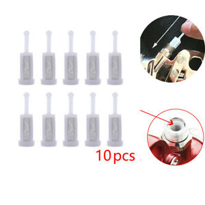 10 Disposable Gravity Feed Filter Paint Spray Gun Mesh Strainers Tool Accessory