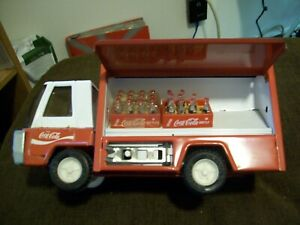 Vintage 1970's Coca Cola Buddy L Jr. Delivery Truck w/Cases & Hand Truck