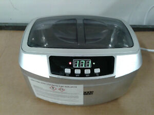 Central Machinery 63256 Ultrasonic Cleaner 2 5 Liter No Basket 120v Works
