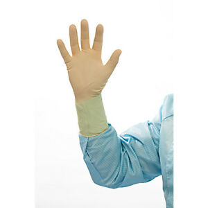 Cranberry Latex Cleanroom Gloves Textured 12 Inch Small 100 pkg