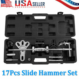 Slide Hammer Dent Puller 13lbs Auto Body Dent Repair Bearing Axel Remover Set