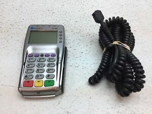 Used Verifone Vx 805 Credit Card Reader W Power Cord Reset To Factory Default