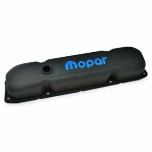Proform 440 811 Valve Covers Steel Black Crinkle Mopar Logo New
