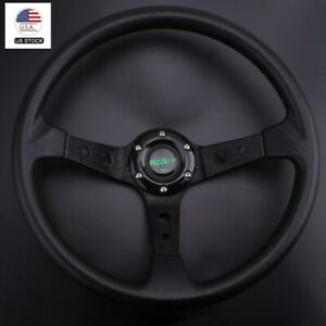 Steering Wheel Universal 350mm 14 6 Bolt Racing Car Steering Wheel Horn Button