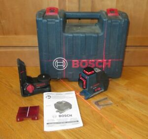 Bosch Gll3 80 Red Self levelling 3 plane Laser Level Wm1 Bracket Case
