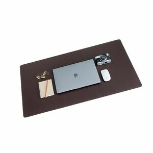 Zbrands Brown Leather Desk Mat Pad Blotter Protector Extended Non slip Re